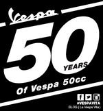 50th Anniversary of the Vespa 50cc scooter
