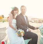 Arrive at your wedding on a Vespa
