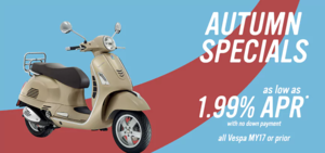 Vespa Orlando Autumn Specials