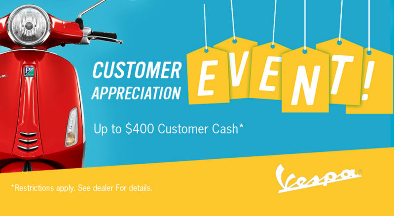 Vespa Customer Appreciation Event!